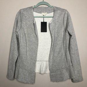 NWT Jane & Delaney sweatshirt jersey blazer jacket